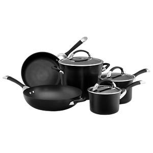 Circulon Symmetry 5 Piece Non Stick Cookware Set Induction Black Hard Anodised