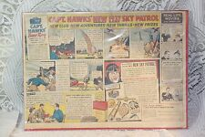 CAPTAIN HAWK Sky Partol Post Bran Flakes cereal box newspaper ad premium 1937