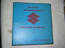 1970 SUZUKI SNOWMOBILE DEALER MANUAL