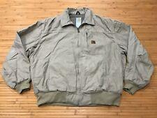 MENS 2XL - Carhartt Canvas Lined Summer Work Zip Jacket