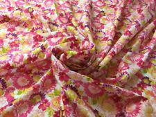 2m Piece Vibrant Floral 100% Cotton Fabric 148cm Wide