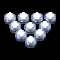 QTY 10 WHITE LED Submersible Underwater Tea lights TeaLight Flameless US Shipper