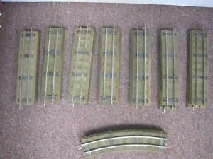 Lot of American Flyer Track with 727 Rubber Roadbed