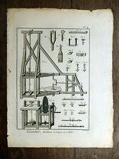 Encyclopédie Diderot D'Alembert 1 PLANCHE Lunetier LUNETTES Optique 18e s.