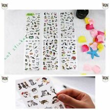 6 Pcs/set Decoration Cartoon Cat Stickers Photo Album Scrapbook DIY Paper PVC
