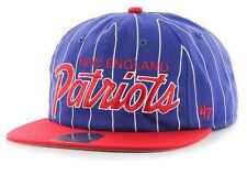 NEW ENGLAND PATRIOTS VINTAGE SCRIPT SNAPBACK '47 BRAND FLAT BILL CAP HAT NEW!
