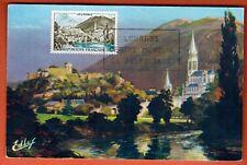 1958 - - FDC CARTE 1°JOUR - BASILIQUE- CHATEAU -LOURDES - TIMBRE  Yt.1150