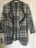 Ladies H&M black and white tweedy viscose and wool jacket size medium
