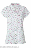 New White Stuff Swinging Ellie White Pink Floral Cotton Tunic Blouse Shirt Top