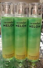 CUCUMBER MELON BATH AND BODY WORKS LOT OF 3 FRAGRANCE SPRAY MIST SET