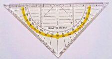 Zeichen Dreieck Geodreieck Unzerbrechlich Büro Schule Lineal flexibel NEU !!!