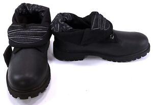 Timberland Shoes Roll Top Stylist Graffiti Art Black Sneakers Men 5.5 Womens 7.5