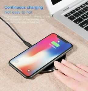 15W Qi Aluminum Alloy Wireless Charger for Apple Samsung Huawei Xiaomi