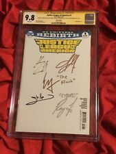CGC SS 9.8~JUSTICE LEAGUE OF AMERICA #1~SKETCH~SIGNED GADOT+CAVILL+EZRA+MOMOA+1