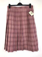 Pleated Skirt Size 12 MIDI Tartan Plaid Check 100% Wool Vintage Equorian Bnwt