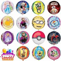 Orbz Foil Balloons Disney Childrens Characters Marvel Pixar Party Decorations