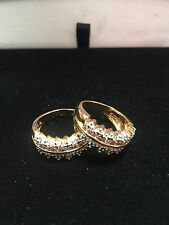 ROUND SOLITAIRE DIAMOND WEDDING BAND SET OF 2  GUARDS STACK RINGS SZ 5