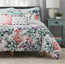 New Listing10pcs Reversible Queen Size Comforter Set Sheets Bed Pillows Shams Bed in a Bag