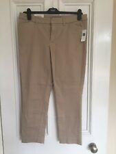 Gap Tan Beige Skinny Stretch Capri Trousers Size 16 BNWT