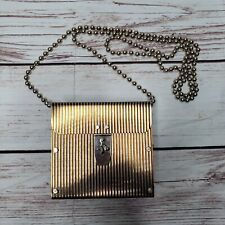 Wendy Stevens Stainless leather Chain mail Clutch Bag Purse Crossbody Industrial
