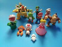 Large Jakks Mario Figures Lot Of 11 Mario Yoshi Luigi Donkey Kong USED DAMAGED