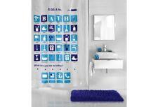 Rideau de douche Kleine Wolke 180x200 cm Apps bleu cloison salle bain