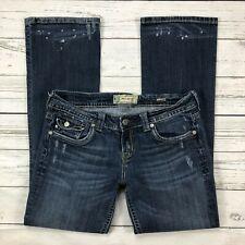 Mek Denim Jeans Size 31 Womems Quebec Boot Cut Button Flap Pockets W1QEBB2 MEDBL