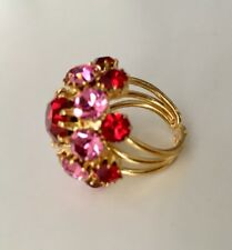 Adjustable Ring Pink And Red Stones