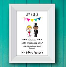 Personalised Wedding Print! Personalised Wedding Gift! Wedding Stick Print!