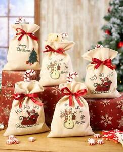 Set of 5 Large Holiday Treat Bags NEW