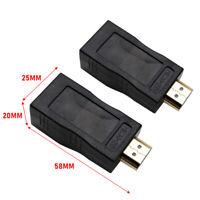 2tlg HDMI Extender auf RJ45 über Cat 5e/6 Netzwerk HDCP LAN Ethernet Adapter DA