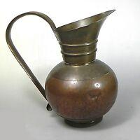 Antike Kupfer Kanne Biedermeier-Form ca. 21 x 15 cm