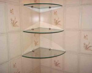Esquineros de vidrio para baño