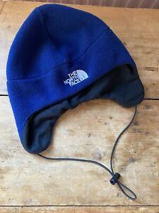 Kids North Face Deerstalker Navy Fleece Hat L Unisex Boys Girls Outdoor Pursuits