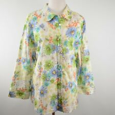 ALFRED DUNNER Woman 20W Blouse Eyelet Floral Plus Poly Top Shirt NWT