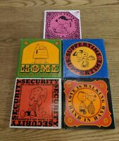 Set of 5 Snoopy Peanuts Charles Schulz Books Vintage Happiness Love Security