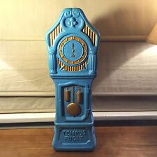 Used Vintage Irwin Plastic Blowmold Coin Bank Grandfather Clock Tempus Fugit