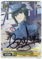 Greg Ayres Naoi Angel Beats! Signed Trading Card Auto Two Faces Weiss Schwarz