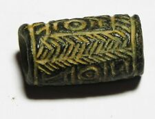 ZURQIEH -as6534- ANCIENT HOLY LAND, CANAANITE STONE CYLINDER SEAL. 1300 B.C