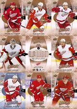 2016-17 UD Upper Deck MVP Detroit Red Wings Team Set (10)
