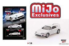 MINI GT 1/64 Toyota Supra ( JZA80) White Left hand Drive Diecast Car MGT00014