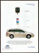 2000 FORD Focus SE Vintage Original Print AD White Wagon car photo French Canada