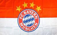 FC Bayern Munich Flag 3x5 ft Soccer Sports Banner Futbol Club Red White Man-Cave