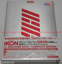 New iKON WELCOME BACK COMPLETE EDITION First Limited 2 CD DVD Photobook Japan