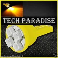 4x Ampoule T10 / W5W / W3W LED 4 SMD 3528 Jaune Yellow veilleuse lampe light