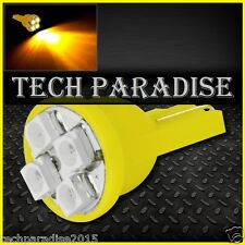 1x Ampoule T10 / W5W / W3W LED 4 SMD 3528 Jaune Yellow veilleuse lampe light