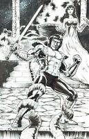 Conan Original Comic Art by Jay Taylor