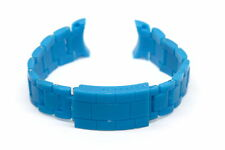 20MM BLUE PLASTIC BUCKLE WATCH BAND FITS TOY WATCH PLASTERAMIC SERIES