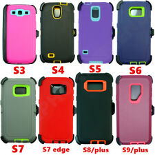 For Samsung Galaxy Note S 3/4/5/6/7/8/9 Plus + Defender Case(Clip fits Otterbox)