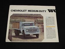 1965 Chevrolet Medium Duty Trucks Sales Brochure Chevy Large Fold Out